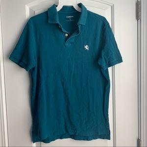 Express Men's Teal Polo Shirt